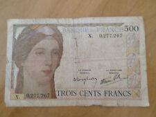 BILLET DE 300 FRANCS CLEMENT SERVEAU 1938 X. 0.277.267