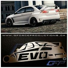 Mitsubishi Lancer Evo X w/wing JDM Stainless Steel custom Key chain CZA4 4B11T