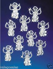"Beadery Beaded Craft Kit ~ LITTLE ANGELS Ornaments 2.5"" Set of 18 #5527 Sale"