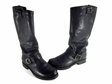 FRYE VERONICA WOMEN'S SLOUCH BOOTS BLACK LEATHER IMPORTED US SIZE 8.5 MEDIUM