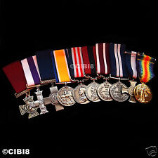 HUGE BRITISH MILITARY MEDAL GROUP SET 10x AWARDS RAF NAVY RM SBS PARA WW1 WW2