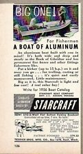 1956 Print Ad Starcraft Boats of Aluminum Fishing Goshen,IN