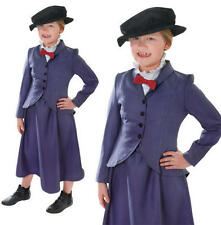 Childrens Kids Nanny Fancy Dress Costume Mary Poppins McPhee Childs Outfit L
