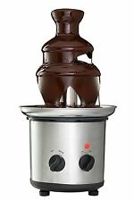 3 TIER CHOCOLATE FOUNTAIN FONDUE FRUIT MARSHMALLOW STAINLESS STEEL PARTY GIFT
