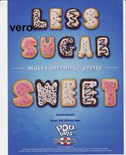 KELLOGG 2011 Pop Tarts magazine ad clipping LESS SUGAR SWEET letters scrapbook