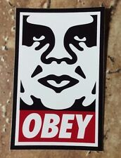 OBEY Giant Shepard Fairey Obey Icon & Bar Logo White / Dark Red Edition Sticker