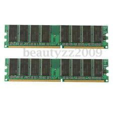 RAM 2GB (2x 1GB) 3200U DDR1 400Mhz 184pin Memoria  DESKTOP PC PC3200 Non-ECC