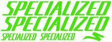 5 pegatinas de vinilo Verde fluorescente SPECIALIZED  para bicicleta,  no 380