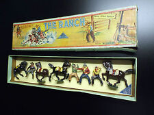 RARE Timpo Toys The ranch Lone star Ranch figurine en plomb Cow boy no soldat