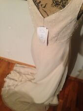 NEW W/Tags Alfred Angelo Wedding Formal Dress Style1570 Size 10 Ivory champagne