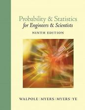 Probability and Statistics for Engineers and Scientists 9th Int'l Edition