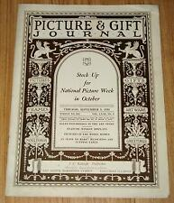 Picture & Gift Journal 1934 Art, Model Homes World's Fair,National Picture Week