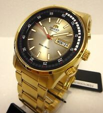 ORIENT  AUTOMATIC MARSHALL  GOLD MEN  JUMBO WATCH  W/ORIGINAL BOX FEM7E009U