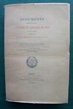 PICHON BARON JÉROME et GEORGES VICAIRE: Documents pour servir à l'histoire des