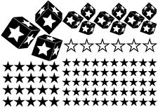 93 Sterne Star Auto Aufkleber Set Sticker Tuning Fee Stylin WandtattooTribel xxy