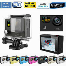 "Dual Screen G3 HD 2.0"" WiFi Pro Sports Action DV Camera Waterproof Go Kart HDMI"
