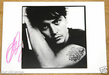 DAVID BAILEY HAND SIGNED JOHNNY DEPP GALLERY POSTCARD UACC REGISTERED DEALER