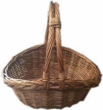 TRADITIONAL  WICKER RUSTIC TRUG BASKET BEAUTIFUL