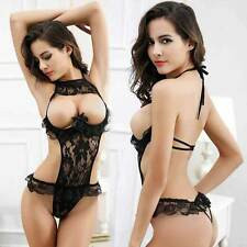Sexy Lingerie Lace Babydoll Dress Women's Nightwear Sleepwear Underwear G-string