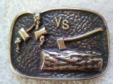 Varsity Scout Wood Badge Bronze Belt Buckle