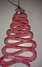 1 New Christmas Holiday Ornament Red White Candy Tree Cane Peppermint Sweet