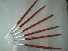 2 each Red Sable #6 Brushes Watercolor Acrylic Details Painting Brush Red