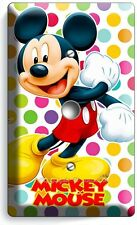 MICKEY MOUSE PASTEL POLKA DOTS LIGHT DIMMER CABLE WALL PLATE COVER BABY NURSERY