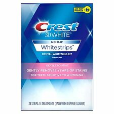 Crest 3D No Slip WhiteStrips, Gentle Routine, 28 Strips/14 Treatment, Exp.2018