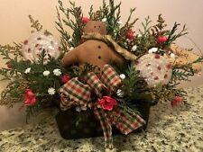 Home Decor Christmas Gingerbread Peppermint Candy FLORAL Wreath Pick Swag