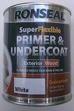Ronseal supeflexible primer and undercoat exterior wood - White 750ml