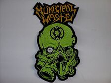 MUNICIPAL WASTE YELLOW  LOGO      EMBROIDERED BACK PATCH