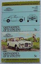 1959 Facel Vega Hk500 coche Sellos (líderes del mundo / Auto 100)
