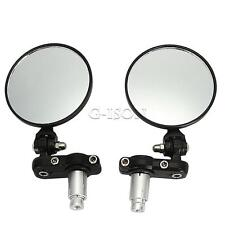 "Motorcycle 7/8"" Bar End Rear View Mirrors Fit Kawasaki Z1000 Z750 Versys"