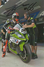 TOM SYKES HAND SIGNED KAWASAKI WSBK 6X4 PHOTO 1.