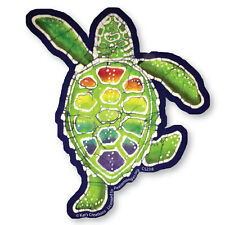 CS238 - Rainbow Terrapin Batik Color Sticker / psychedelic / Kat's Creations