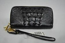NWT! Brahmin Zoe Wallet/Wristlet in Black Melbourne Croc Embossed Leather