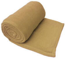 Beige Luxury Warm Soft Large 180cm x 254cm Fleece Sofa Couch Bed Blanket Throw