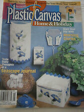June 2000 Plastic Canvas Home Pattern Book Magazine Morning Glories Tissue Box