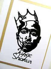"Tupac shakur original pop art, 3""X 7"" pouces 2pac vinyl decal sticker portrait."