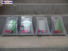 Set of 4 - Konnet High Quality Plastic Cases for iPhone 4S/4 - Green & Blue