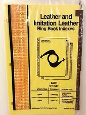 "A to Z"" Imitation Red Leather Ring Book Indexes, fits ""9 1/2X6"" 3 Ring Binder"