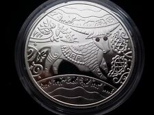 Ukraine 5 UAH Lunar  Year of the Ox  Silver Coin with Rubies,2009 year