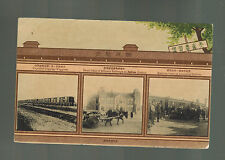 1900s Dairen Manchuria China REal Picture Postcard Military Railway Train