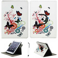 "Print Leather 360 Rotating Folio Case Cover Stand For Various 7"" Inch Tablet PC"
