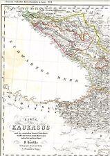 Alte Landkarte KAUKASUS Armenien Abchasien Dagestan Tschetschenien Georgia 1844
