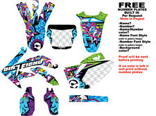 "DFR CRF450 GRAPHICS ""BOMBER"" ELECTRIC COLORS 2005-2008 CRF 450 HONDA"