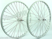 "Weinmann AS-7X 26"" BMX cruiser wheelset SILVER w/ BLUE nipples sealed bearings"
