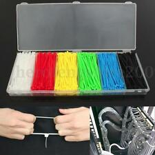 900PCS 6 Colors Pack 100mmX2mm Self-Locking Nylon Wrap Cable Wire Loop Zip Ties