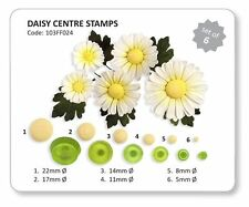 JEM Set of 6 DAISY CENTRE STAMPS Flower Plastic Icing Cut Out Cutters Sugarcraft