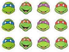 12 Teenage Mutant Ninja Turtles TMNT Edible Wafer Cupcake Toppers